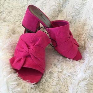 🆕{Worthington} Pink Heeled Mule